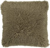 Dutch Decor Kussenhoes Fluffy 45x45 cm olijf