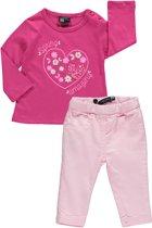 Losan Meisjes Set (2delig) Lichtroze Broek en Roze shirt - Maat 68