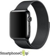 Milanees bandje geschikt voor Apple Watch 42-44mm RVS - Zwart