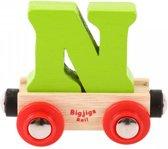 Bigjigs - Rails - Naamtrein - Letter N - Oranje