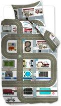 Beddinghouse Kids Highway - Dekbedovertrek - Eenpersoons - 140x200/220 cm - Multi