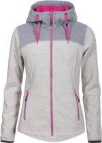 Icepeak Kylie Midlayer Hoodie Outdoorvest - Maat 42  - Vrouwen - beige - grijs - roze