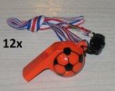 12 x voetbalfluit aan lint