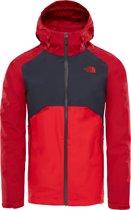 The North Face Stratos Jas - Heren - Rage Red/Asphalt Grey/High Risk Red