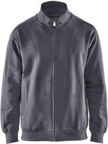 Blåkläder 3349-1048 Sweatshirt lange rits Grijs maat XS