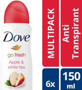 Dove Women Deodorant - Apple and White Tea - 150ml - 6 stuks - voordeelverpakking