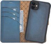 Bouletta Uitneembare 2-in-1 Magneet Leren WalletCase Hoesje iPhone 11 - Dark Blue