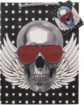 Tassen van Karton - Skull, Sterren en Harten - Set van 12 stuks - 23x18cm - Dielay