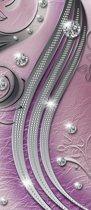 Deursticker Muursticker Modern  | Zilver, Paars | 91x211cm