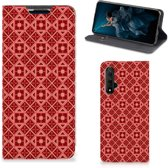 Honor 20 Hoesje met Magneet Batik Red
