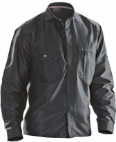 5601 Worker shirt polyester Black xs
