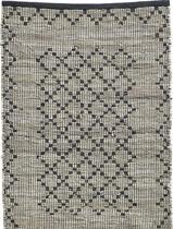 Vloerkleed Chindi - geweven - leer/katoen - 200x250cm - Nordal