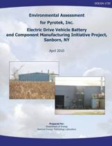 Environmental Assessment for Pyrotek, Inc. Electric Drive Vehicle Battery and Component Manufacturing Initiative Project, Sanborn, NY (Doe/Ea-1720)