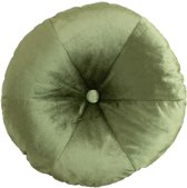 Kussen rond Velvet mosgroen Ø 50 cm fluweel