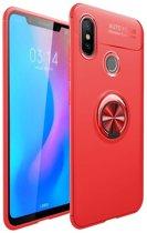 Teleplus Xiaomi Mi 8 Ravel Rings Silicone Case Red + Nano Screen Protector hoesje