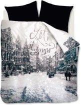 Beddinghouse Studio Let It Snow Dekbedovertrek - Eenpersoons - 140x200/220 cm - Zwart