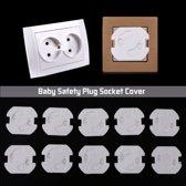 Stopcontact Beveiliging - Beschermer - Zelfklevend - Kinderslot - Baby - 10 stuks - Set - Wit