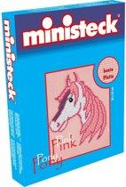 Ministeck Pink Pony met Roze Grondplaat