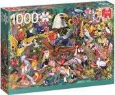 Dierenrijk Premium Quality Puzzel 1000 stukjes