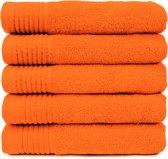 The One Badhanddoek 450 gram 70 x 140 Oranje