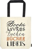 Moses Boekentas Libri_x Boeken 8,5 Liter Beige