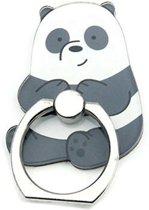 Zittende Panda - Ring vinger houder- standaard voor telefoon of tablet
