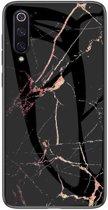 Shop4 - Samsung Galaxy A70 Hoesje - Harde Back Case Marmer Zwart