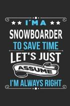 Im a Snowboarder To save time let s just assume I m always right