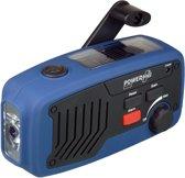 POWERplus Panther Dynamo / Solar / USB Oplaadbare FM Scan Radio - LED zaklamp en noodlader