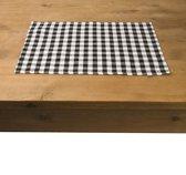 In the Mood Karo Placemat - 33 x 45 cm - 4 stuks - Zwart