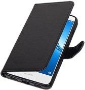 BestCases.nl Zwart Portemonnee booktype hoesje Huawei Y5 II / Y6 II Compact