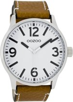 OOZOO Timepieces C7405 - Horloge - 45 mm - Leer - Bruin