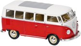 Fx Metalen volkswagen bus t1 1962: 18 cm rood
