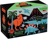 Mudpuppy Glow in Dark Puzzle - Dinosaurs - 100pcs