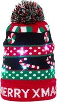 JAP Kerstmuts met lichtjes - Beanie met kerst verlichting - Merry x mas