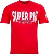 Super Pro T-Shirt S.P. Logo Rood/Wit Medium