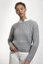 Loop.a life - Waterfront Sweater -    Duurzame Trui - Lichtgrijs - Maat -XL
