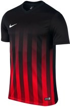 Nike Striped Division II Teamshirt Heren Sportshirt - Maat M  - Mannen - rood/zwart