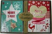 Kerstkaarten met nieuwjaars wens Merry X-mas (5x10) 50 kaarten