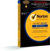 Norton Security Deluxe 3.0 & Wifi privacy bundel - Nederlands / 5 Apparaten / 1 Jaar / Windows / Mac / iOS / Android