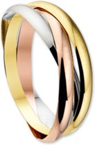 The Jewelry Collection Ring 3-in-1 - Tricolor Goud