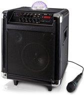 Alecto MPA 65 bluetooth draagbare karaoke set speaker - zwart