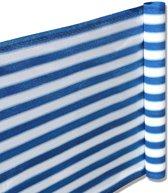 Balkonscherm - Kleur Blauw/Wit- Balkondoek - 500x90cm - Duurzaam