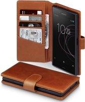 Sony Xperia XZ1 hoesje - CaseBoutique - Cognac - Leer