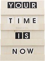 Letterbord Hout Inclusief 120 houten letters en cijfers 24 x 35 cm