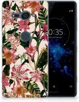 Sony Xperia XZ2 Compact Uniek TPU Hoesje Flowers
