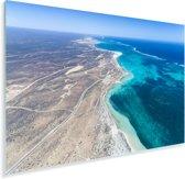 Blauwe lucht en zee bij de Kust van Ningaloo Plexiglas 30x20 cm - klein - Foto print op Glas (Plexiglas wanddecoratie)