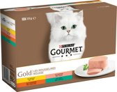 Gourmet Gold Fijne Mousse - Kip - Kattenvoer - 12 x 85 g