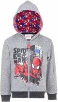 Spiderman sweater met rits grijs 104
