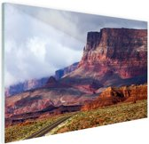 Woestijnlandschap Amerika Glas 30x20 cm - klein - Foto print op Glas (Plexiglas wanddecoratie)
